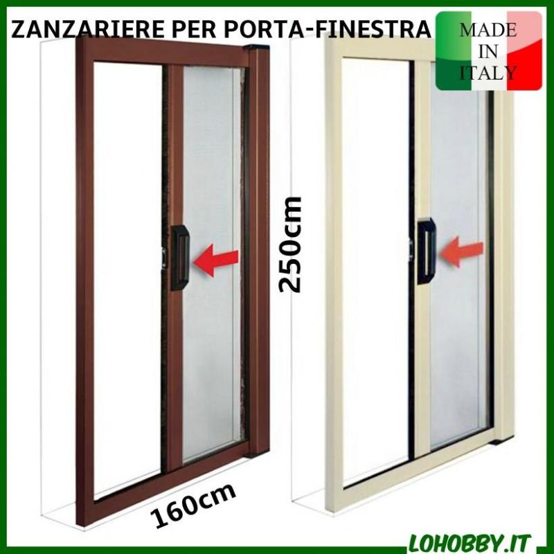 Zanzariere in kit a rullo riducibili avvolgibili orizzontali - Zanzariere porta finestra prezzi ...