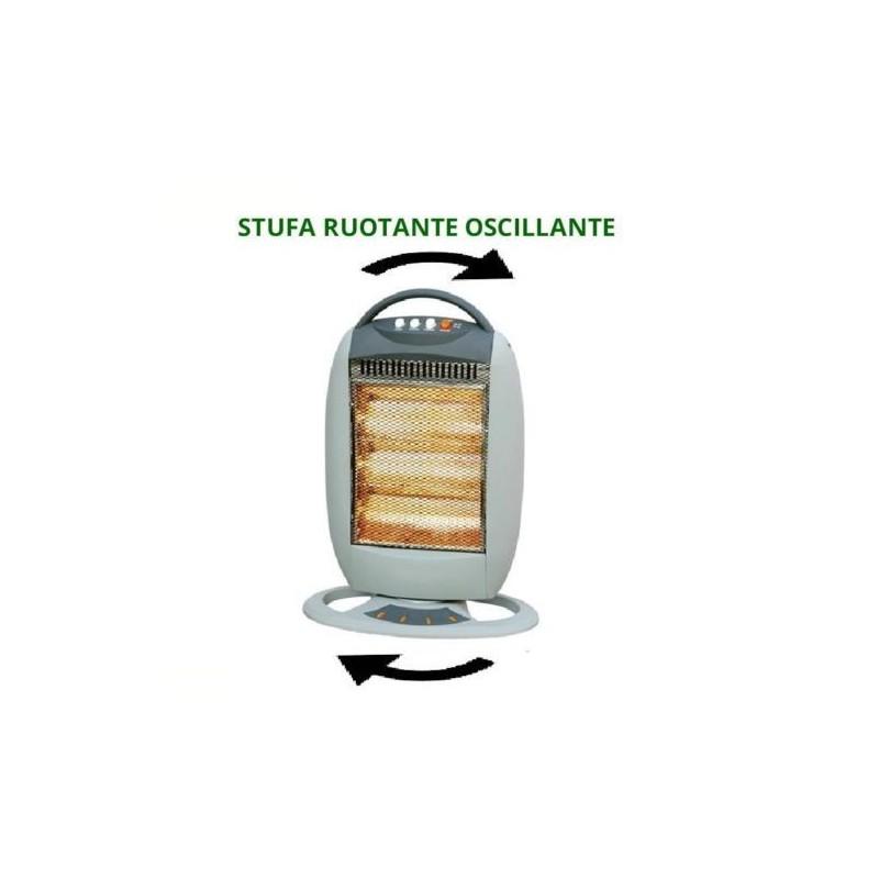 Stufe elettriche alogene ruotanti al quarzo 400 1200w oscillante - Stufa elettrica al quarzo ...