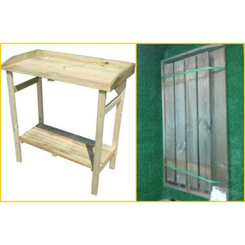 Banco lavoro in legno eco 80x40x85 banchetto tavolo for Tavolo da fumo fai da te