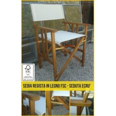 Sedia regista in legno FSC poltrona giardino finitura teak sedie poltroncina