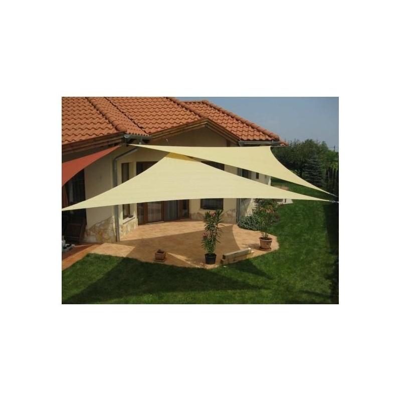 Vela ombreggiante triangolare avana in poliestere tenda for Tenda vela ikea