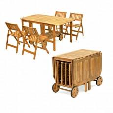 Set tavolo e sedie da giardino salvaspazio