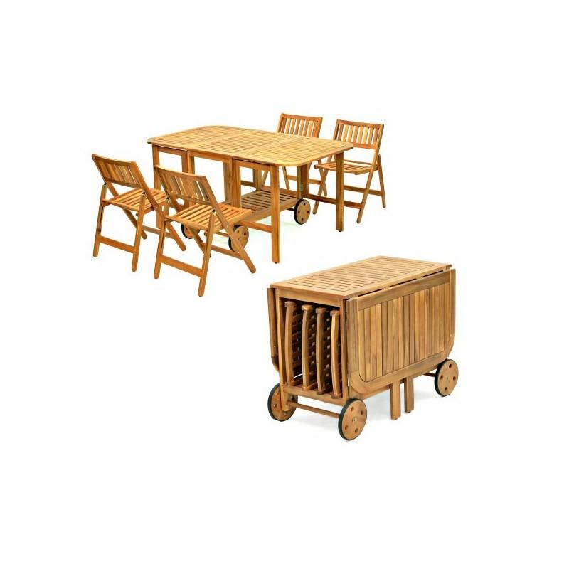 Set tavolo e sedie da giardino salvaspazio for Tavolo salvaspazio