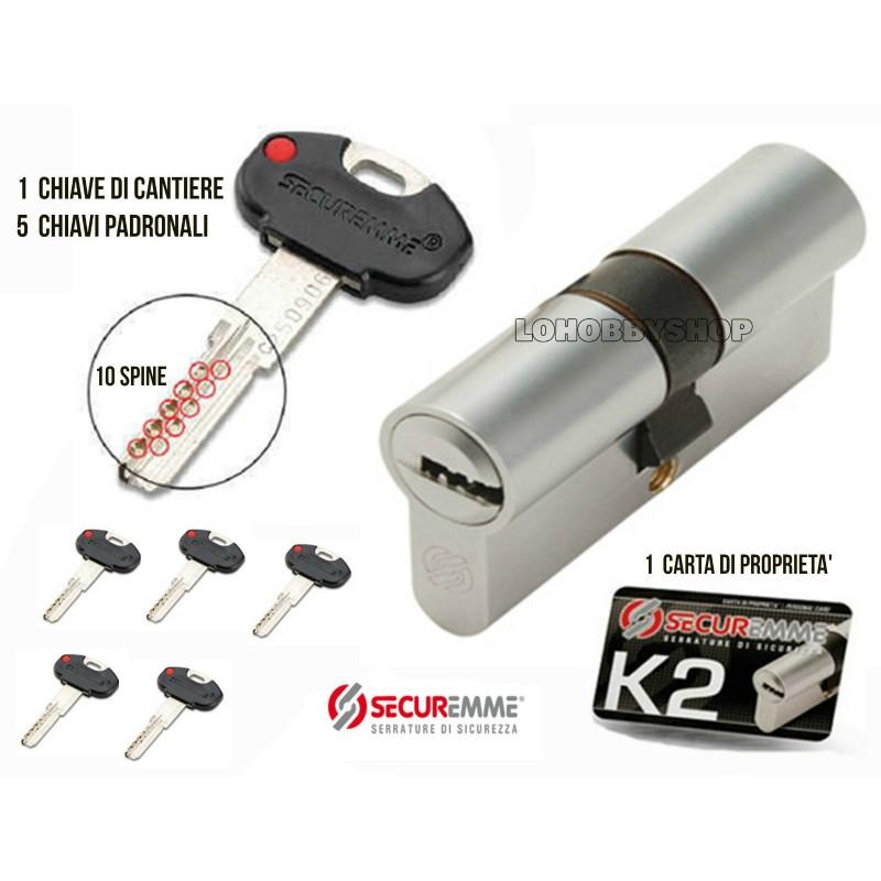 Cilindro europeo securemme k2 for Cilindro europeo prezzi