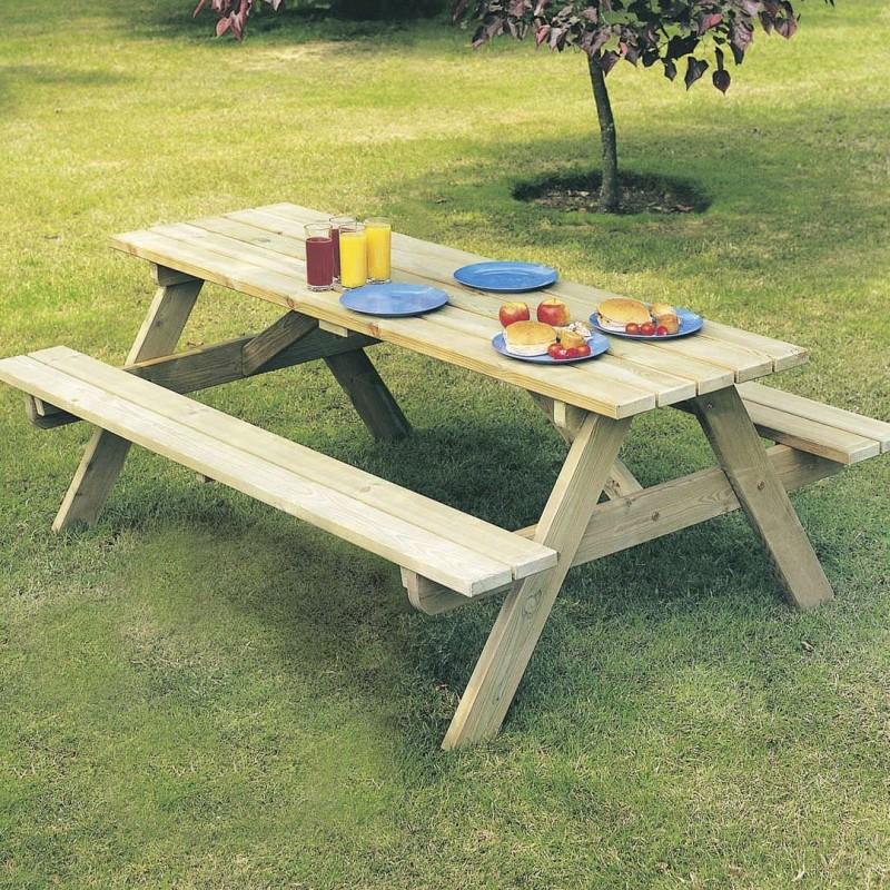 Tavolo legno pic nic con panche for Tavolo degli hobby