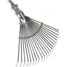 Scopa in metallo zincato a ventaglio per giardinaggio