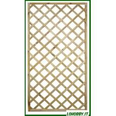Pannelli grigliati o tralicci in legno di pino