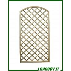 Pannelli grigliati o tralicci ad arco in legno di pino