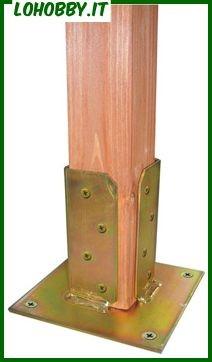 Supporti Per Pali In Legno.Supporti A Pavimento Per Pilastri In Legno