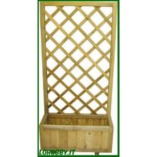 Fioriere divisori con traliccio in legno di pino