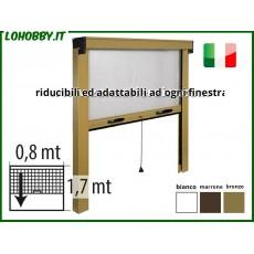 Zanzariere in kit a rullo riducibili, avvolgibili, verticali