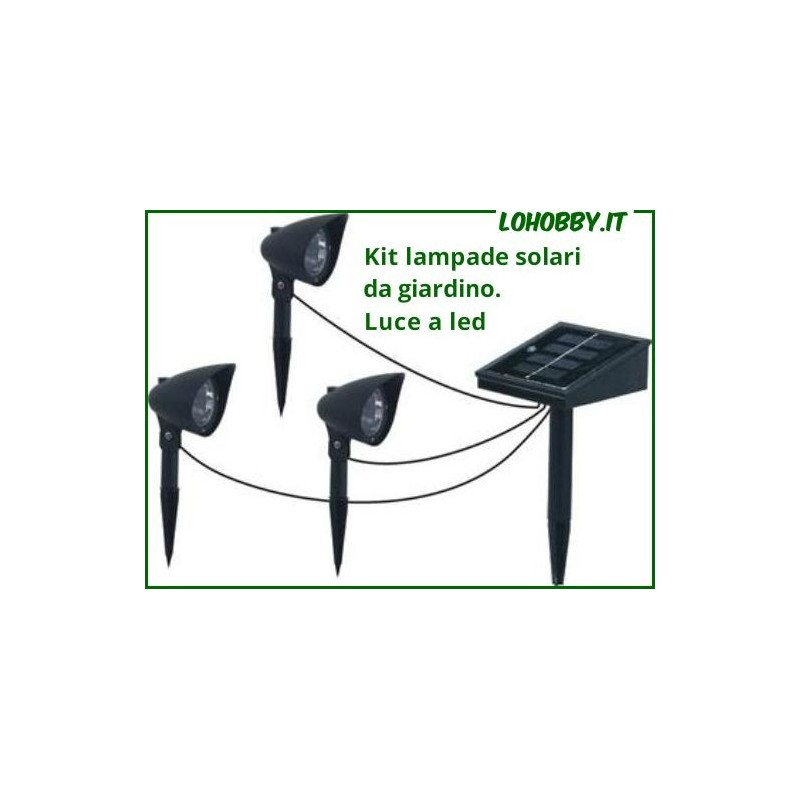 Lampade da giardino solari fotovoltaiche trio led