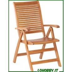 Poltrone alte reclinabili in legno Balau