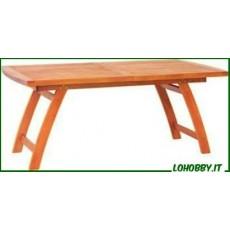 Tavoli rettangolari estensibili in legno Balau