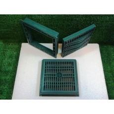 Griglie verdi con telaio in polipropilene plastica