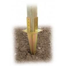 Supporto con puntale per fissaggio Pali a terra