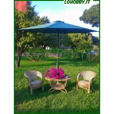 Ombrelloni giardino in alluminio verde diam. 3mt
