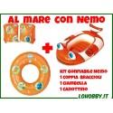 kit Canottino + braccialetti + ciambella Nemo