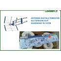 ANTENNE TV DIGITALE TERRESTRE UHF DVBT HD GUADAGNO 16 + 18 dB