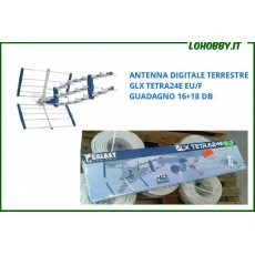 ANTENNE TV DIGITALE TERRESTRE UHF DVBT HD GUADAGNO 16 + 18 dB