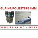 GUAINA IMPERMEABILIZZANTE POLIESTERE 4MM BITUMATA - IMPERMEABILE SFUSA AL MQ