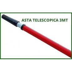 MANICO ASTA ASTE TELESCOPICO MT.3 PER RULLO IMBIANCHINO O RASTRELLO OLIVE MANINA