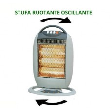 STUFA ELETTRICA ALOGENA RUOTANTE AL QUARZO 400 - 1200W OSCILLANTE