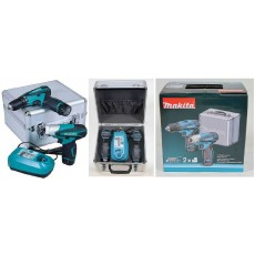 KIT CANVAS 10.8 LITIO 1.3A MAKITA TRAPANO AVVITATORE + AVVITATORE IMPULSI
