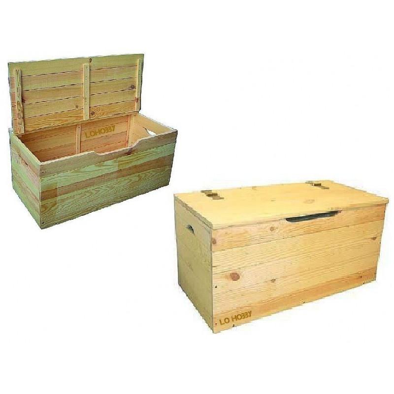 Baule legno 100x40x50, cassapanca multiuso