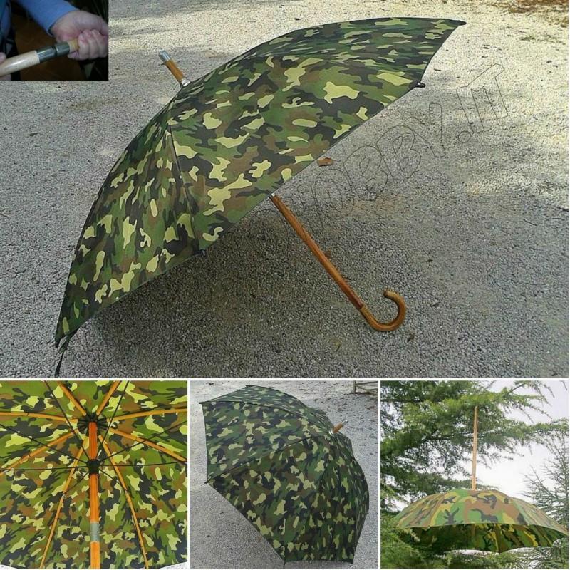 Ombrelli pioggia mimetici country caccia e pesca duplex
