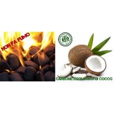 Carbonella ecologica di cocco