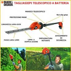 Tagliasiepi a batteria telescopici snodati GTC1843L20