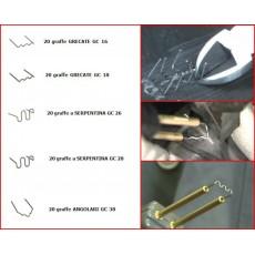 Kit 100 graffette per saldatura plastica