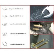 Kit 100pz graffe per saldatrice plastica, set graffette staples ripara paraurti