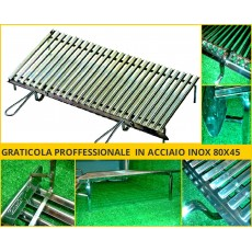 Graticole in acciaio inox 80x45