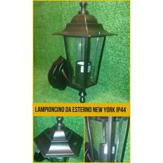 Lampioncino da esterno in alluminio tipo New York , applique a muro, lampione