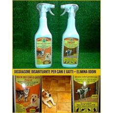 Repellente disabituante per cani e gatti + elimina odori cane, gatto, animali