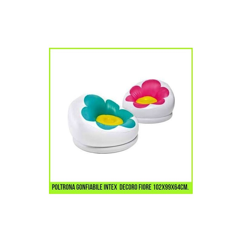 Poltrone gonfiabili fiore for Poltrone bambini