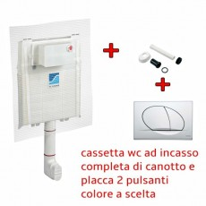 Cassetta wc incasso con Placca