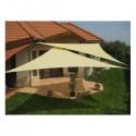 Vela ombreggiante triangolare avana in PES tenda 5x5x5mt