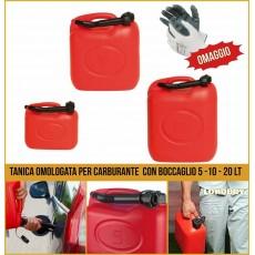 Tanica Omologata Carburante in plastica 5 10 20 lt