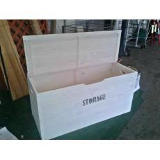 Baule legno shabby bianco 73x35xh33