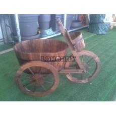 Fioriera Triciclo in legno
