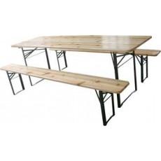 Set tavolo da birreria pieghevole Eco