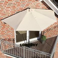 Ombrellone da balcone mezzaluna