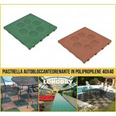 Piastrella plastica drenante giardino piscina