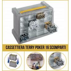 Cassettiera portaminuterie Terry Poker 16 scompartimenti