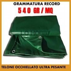 TELO TELONE OCCHIELLATO IMPERMEABILE IN PVC  ULTRA RESISTENTE