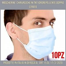 Mascherine chirurgiche di protezione idrorepellenti antivirus cf 10pz