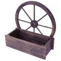 Fioriere ruota in legno